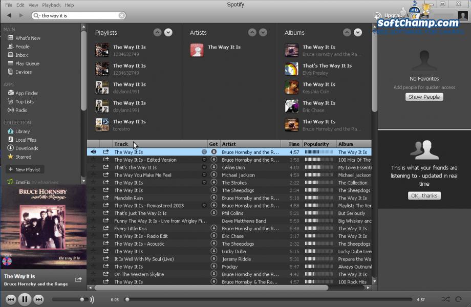 Spotify Track List
