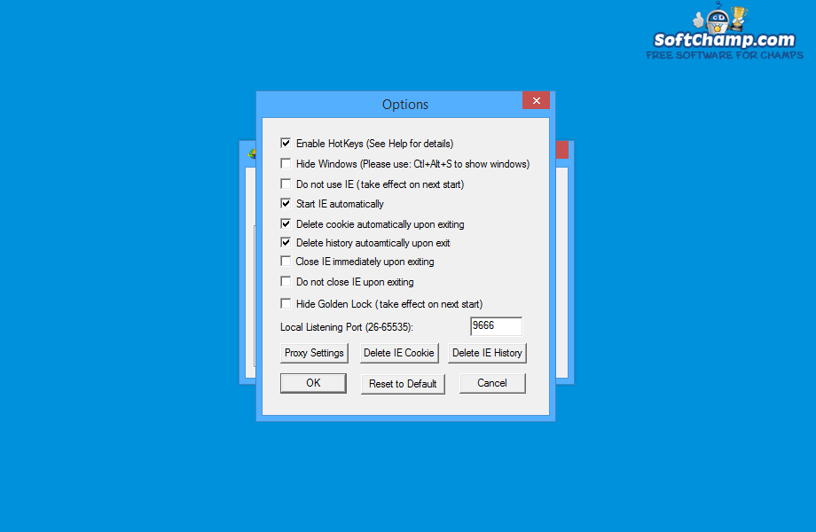 UltraSurf Options