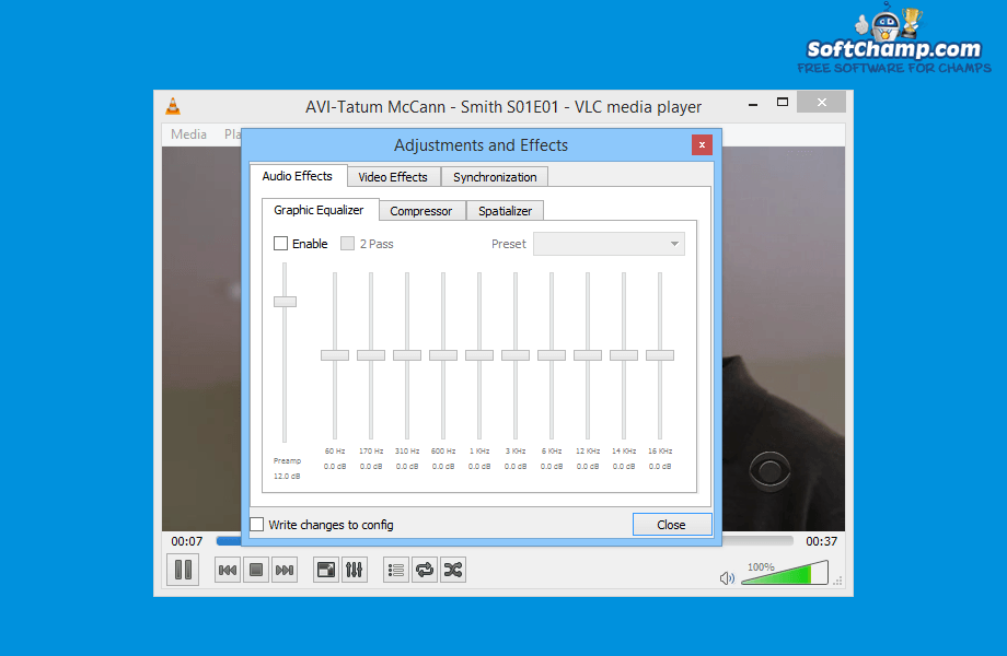 VLC media player Audio Effects