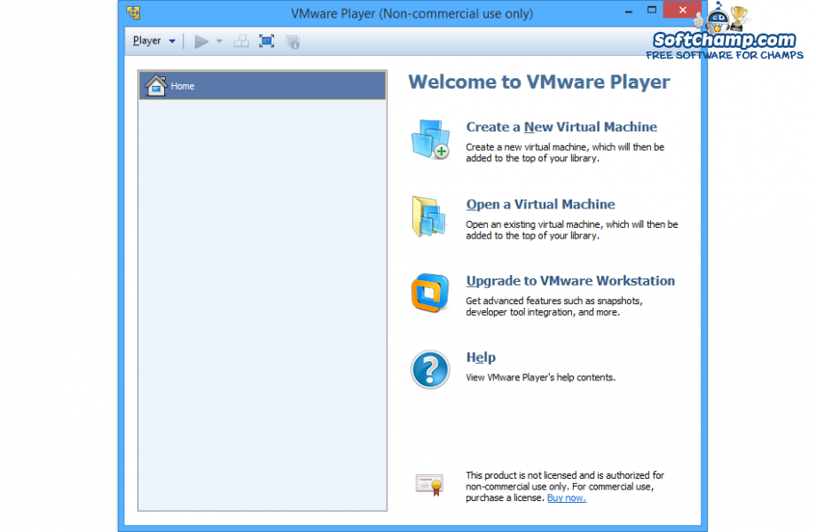 VMware Player Welcome