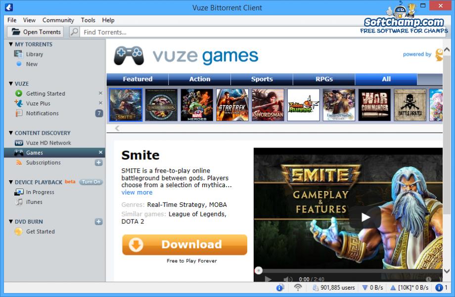 Vuze Games