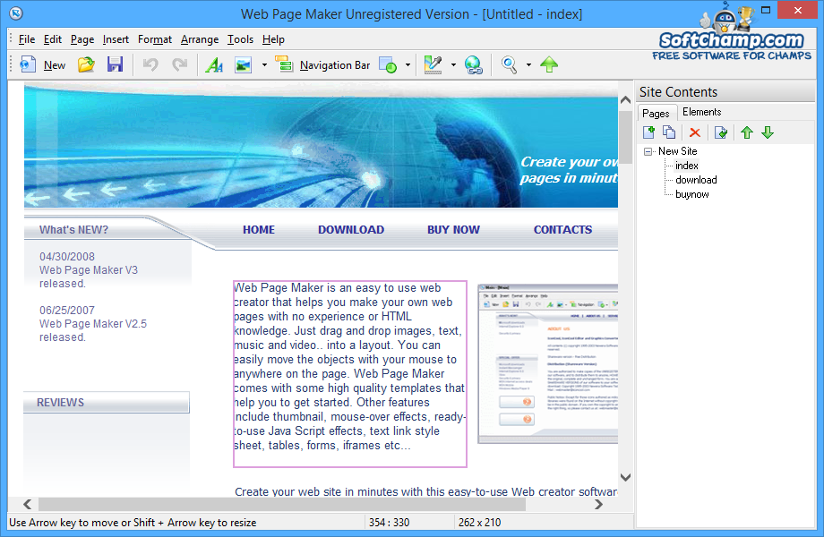 Web Page Maker Edit Web Page