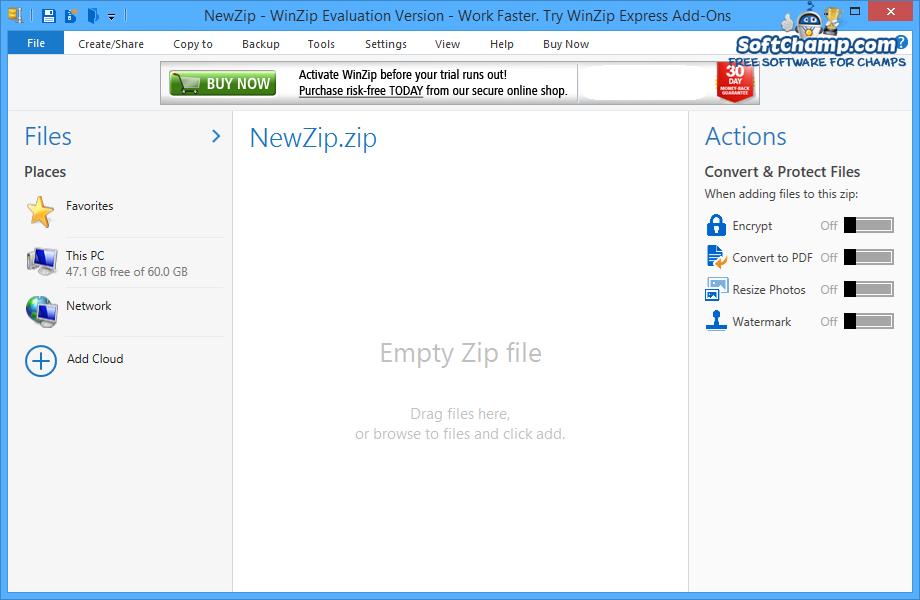 WinZip NewZip