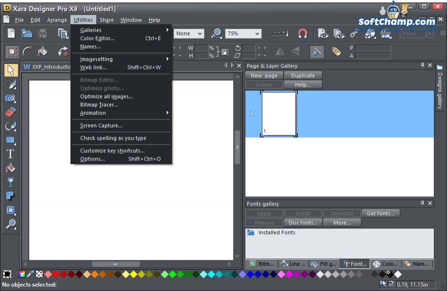 Xara Designer Pro Utilities