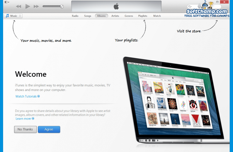 iTunes Welcome Screen
