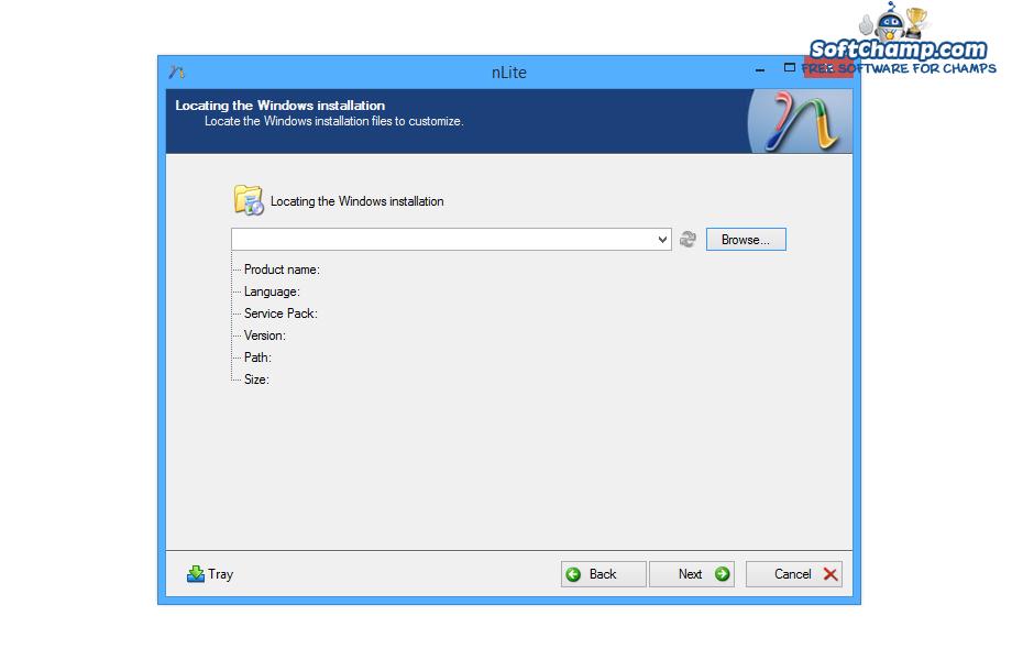 nLite Select Windows installation