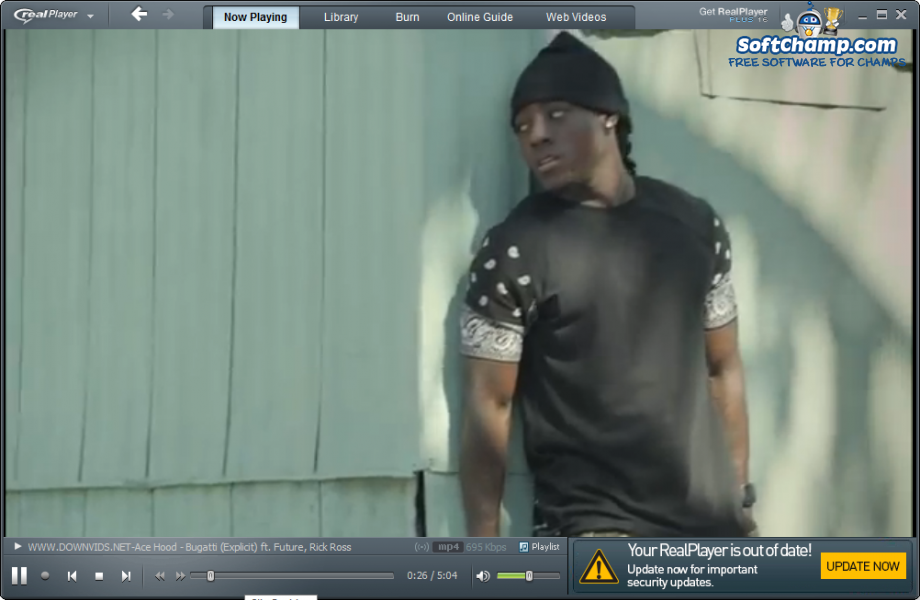 realPlayer Video Playback